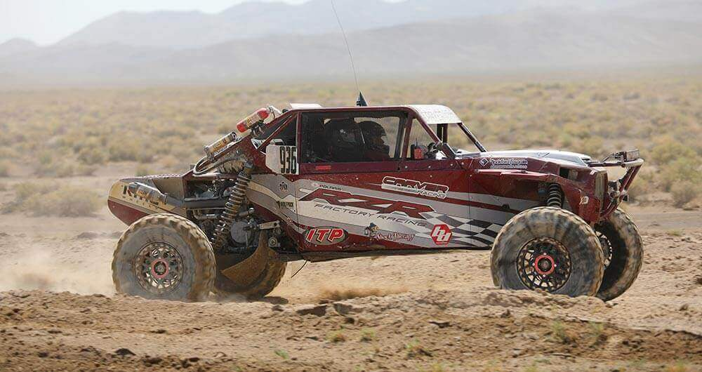 Outfitted in 32-inch ITP Ultra Cross R Spec tires, Jacob Carver's No. 936 Polaris RZR XP Turbo