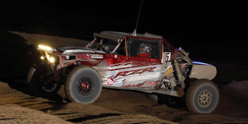 Jacob Carver, who ran 32-inch ITP Ultra Cross R Spec tires on his RZR Turbo, finished sixth in the UTV Turbo class in Laughlin, Nev. (Photo by Harlen Foley)
