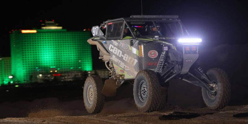 The Can-Am / ITP / Murray Racing tandem of brothers Derek and Jason Murray were fourth in the UTV Turbo ranks at the Laughlin race, using the new 8-ply ITP Coyote tires that are purpose built for SxS vehicles. (By Harlen Foley)