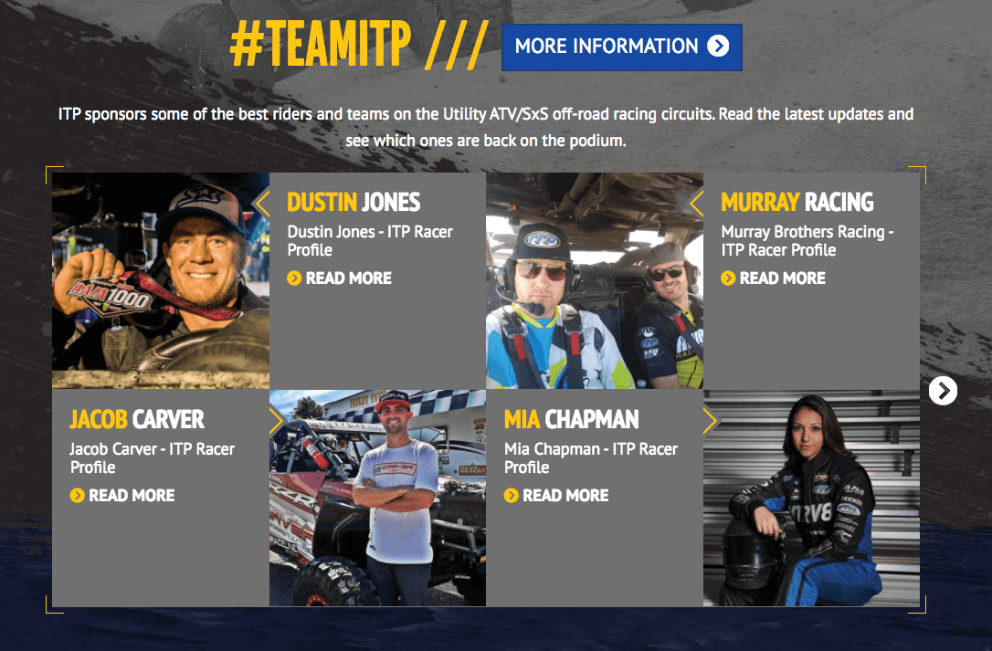 #TeamITP - Sponsored Riders and Teams